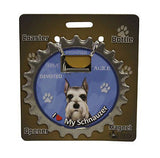 Bottle Ninja - 3 in 1 Coaster/Bottle Opener/ Magnet - Schnauzer