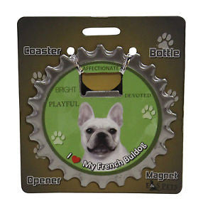 Bottle Ninja 3 in 1 Coaster/Bottle Opener/Magnet - French Bulldog