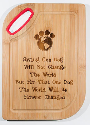 Bamboo Cutting Board - One dog