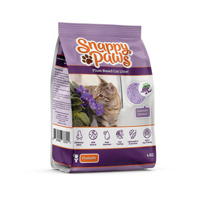 Snappy Paws Plant Based cat litter Lavender Scent