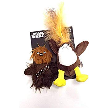 Silver Paw Star Wars PORG and Chewbacca Character 2 Pack Cat Toy Set with Catnip
