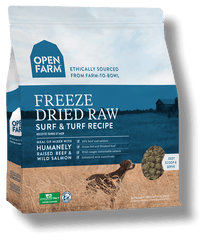 open farm freeze dried raw dog food surf and turf