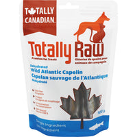 Totally Raw Dehydrated Wild Atlantic Capelin 100 g