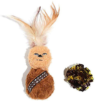 Metallic crackly toy Infused with Catnip Great for kitten to cats Feather featured on the Chewbacca toy