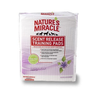 Nature's Miracle Scent Release Training Pads -Tropical Bloom-SALE