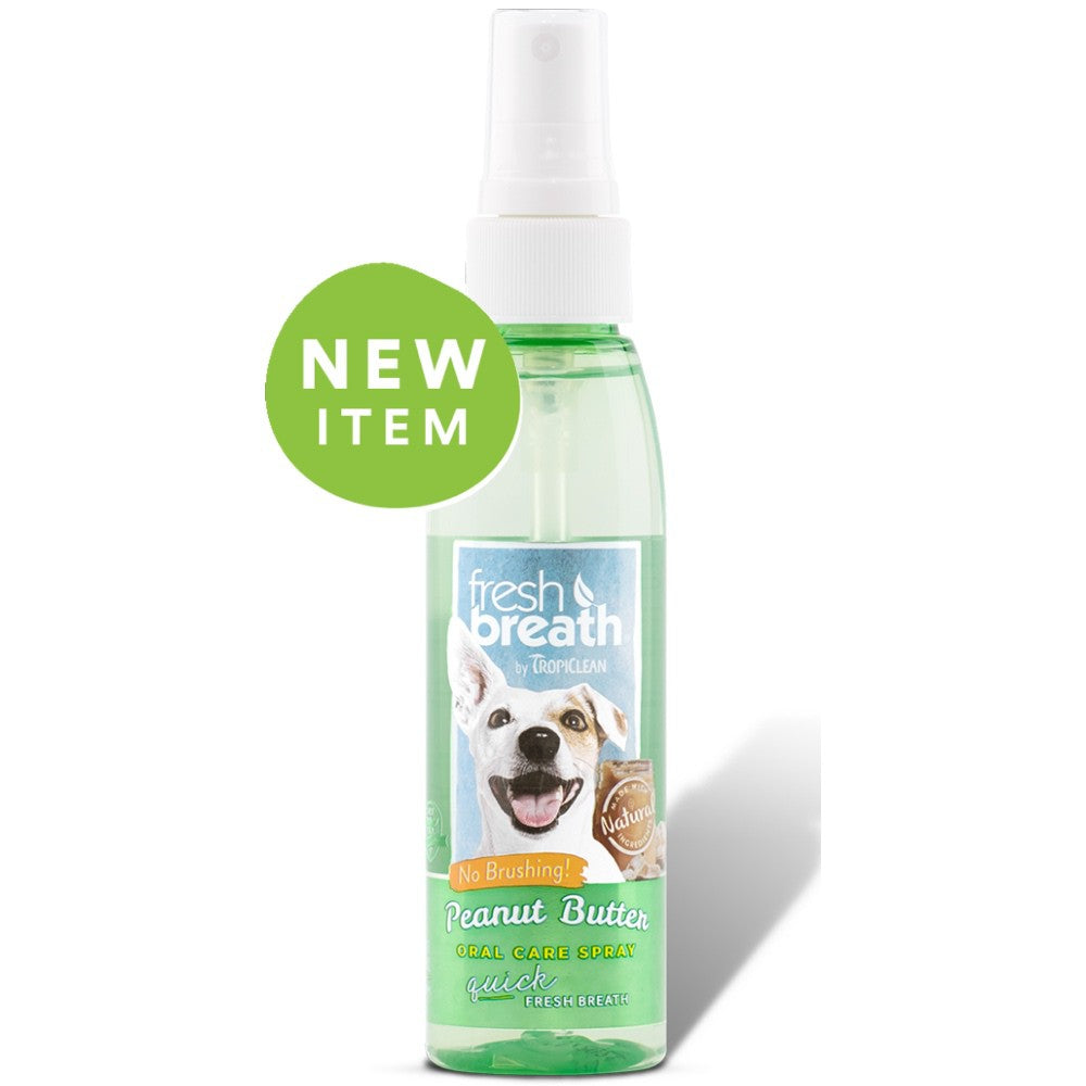 Tropiclean - Fresh Breath - Oral Care Spray - Peanut Butter
