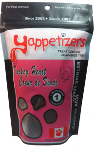 yappetizers dog treats turkey heart