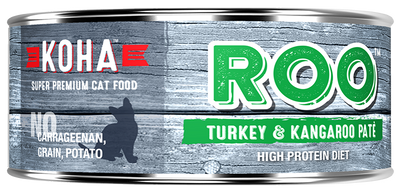 KOHA Roo Turkey & Kangaroo Pate Cat Food -5.5oz