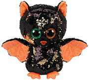 TY Beanie Halloween Flippable Bat - Omen 10""