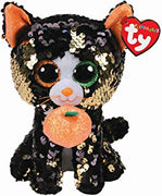 "TY Beanie Halloween Cat Flippable - Jinx 6"" SALE"