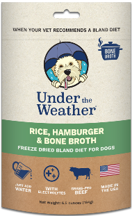 Under the Weather Dog Bland Diets with Bone Broth & Electrolytes (Freeze Dried) 184 g