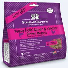 Stella & Chewy's - Freeze Dried Cat Food - Yummy Lickn' Salmon & Chicken