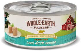 Whole earth Farms Canned Cat Food-Duck