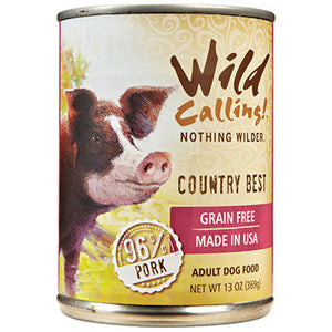 Wild Calling Country Best 96% Pork Canned Dog Food