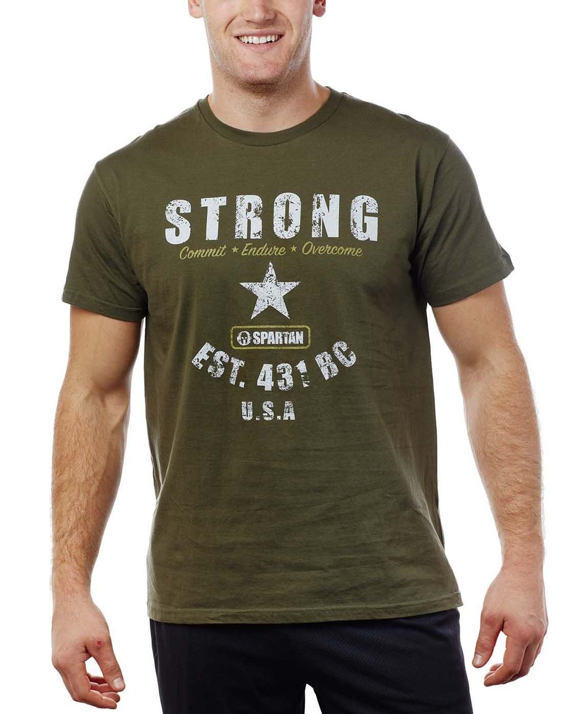 Spartan Race Shop SPARTAN Strong Tee - Men's Olive S
