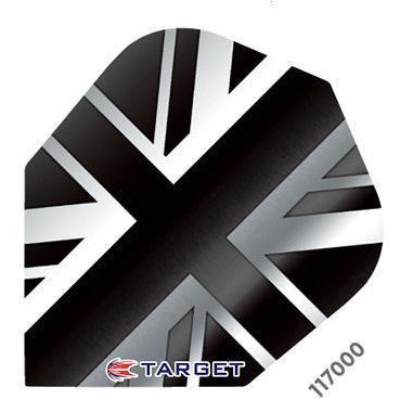 Target Pro 100 Vision Black Union Jack Dart Flights - Standard Shape