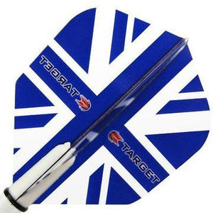 Target Pro 100 Vision Blue Union Jack Dart Flights - Standard Shape