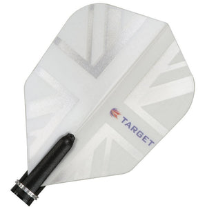 Target Pro 150 Vision Dart Flights Extra Strong 150 Micron Thick - White Union Jack