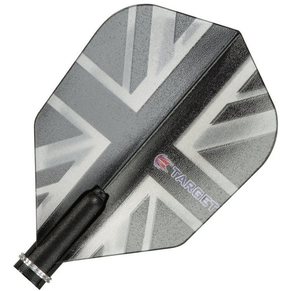 Target Pro 150 Vision Dart Flights Extra Strong 150 Micron Thick - Black Union Jack