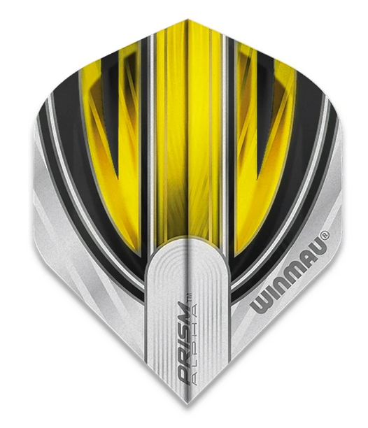 Winmau Prism Alpha Standard Flights - Grey & Yellow