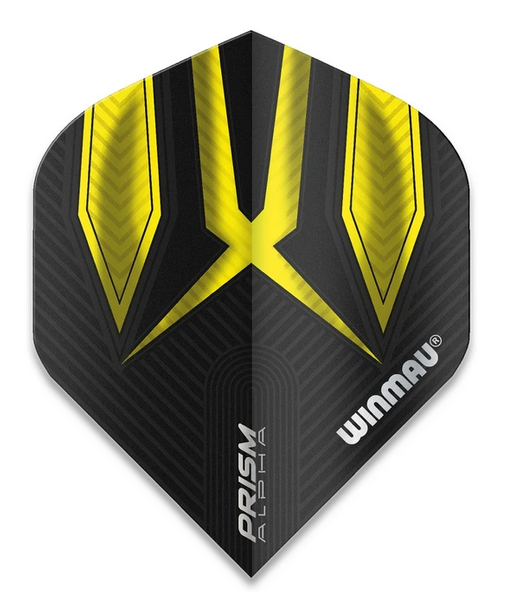 Winmau Prism Alpha Standard Flights - Black & Yellow