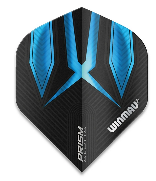 Winmau Prism Alpha Standard Flights - Black & Blue
