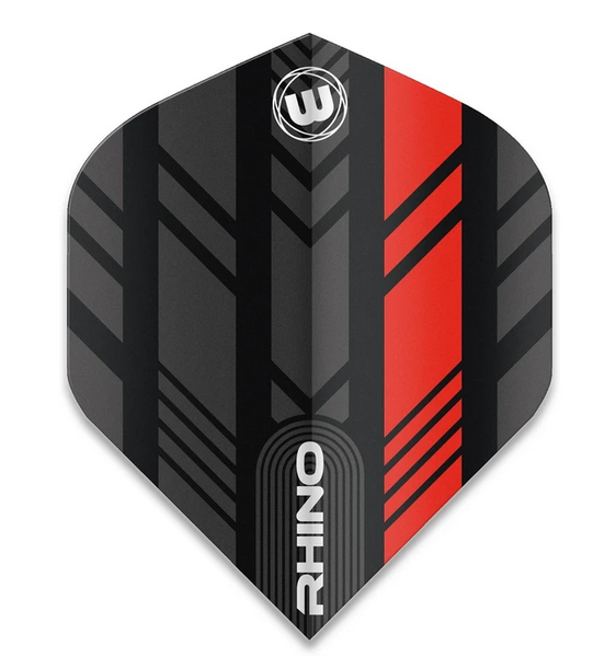 Winmau Rhino Standard Flights - Black & Red