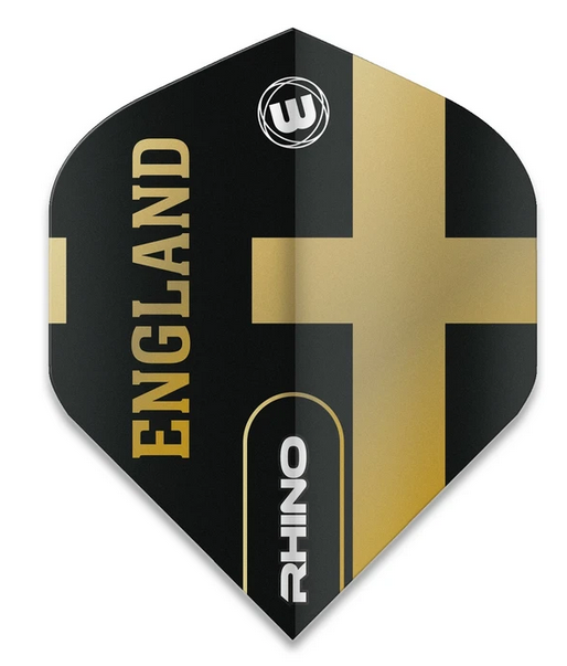 Winmau Rhino Standard Flights - Black & Gold - England