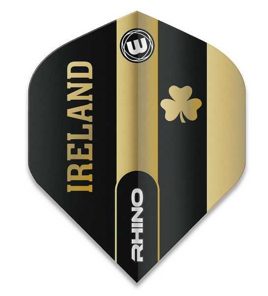 Winmau Rhino Standard Flights - Black & Gold - Ireland
