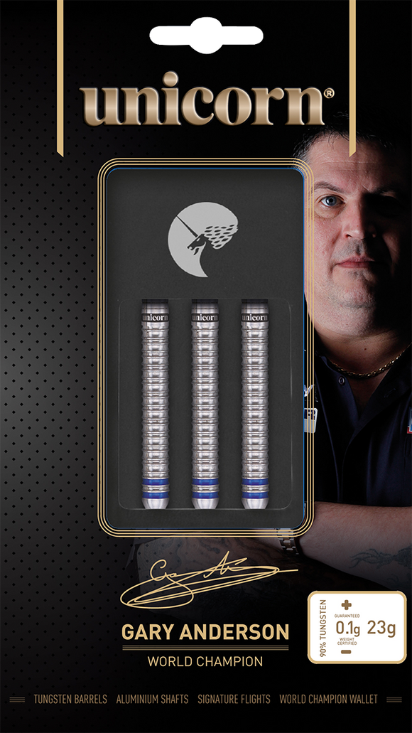 Unicorn Gary Anderson World Champion Phase 3  90% Tungsten Steel Tip Darts