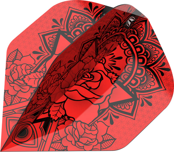 Target Ink Pro Red Dart Flights - No2