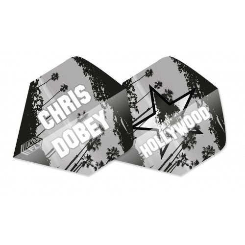 Unicorn 100 Micron  Ultrafly Dart Flights - Chris Dobey (Flight Shape - Big Wing)