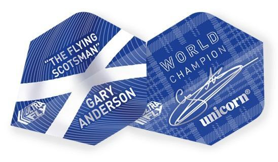Unicorn 100 Micron  Ultrafly Dart Flights - Gary Anderson (Flight Shape - Big Wing)