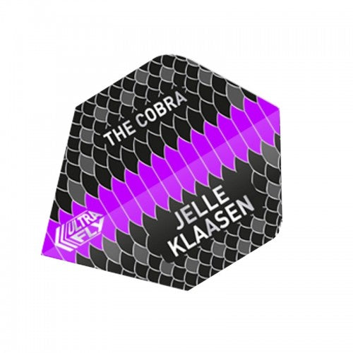 Unicorn 100 Micron  Ultrafly Dart Flights - Jelle Klaasen (Flight Shape - Big Wing)