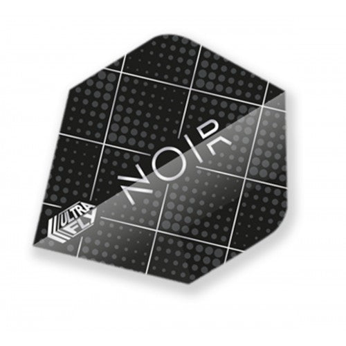 Unicorn 100 Micron  Ultrafly Dart Flights - Noir Dot  (Flight Shape - Plus/Standard)