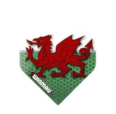 Winmau Mega Standard Winmau Welsh Flag Dart Flights