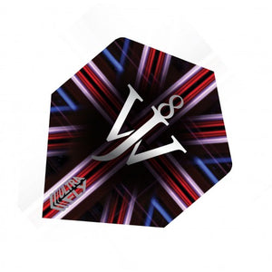 Unicorn 100 Micron  Ultrafly Dart Flights - James Wade (Flight Shape - Plus/Standard)