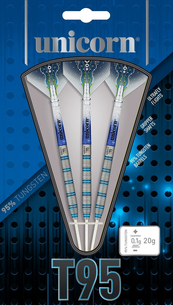 Unicorn T95 Core XL Blue Type 2 - 95% Tungsten Steel Tip Darts