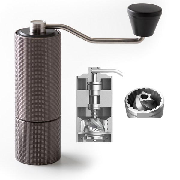 JBM Chestnut C2 Manual Coffee Grinder - Black Metal