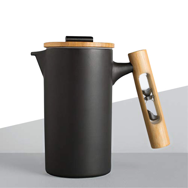 JBM Ceramic French Press With Hourglass