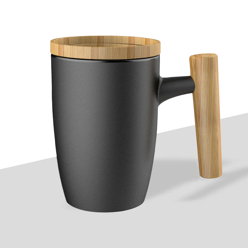 JBM Ceramic Mug with Bamboo Lid