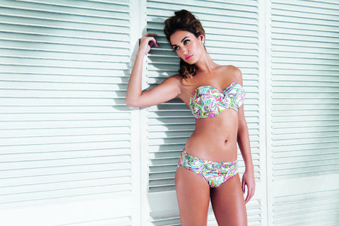 Fantasie swimwear Orissa bikini in white bandeau with hipster briefs