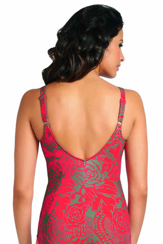Fantasie swimsuit rear profile showing scoop back