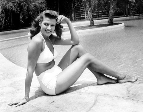 Rita Hayworth in high waisted bikini
