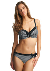 Freya swimwear Tootsie bikini in black and white stripes to FF cup