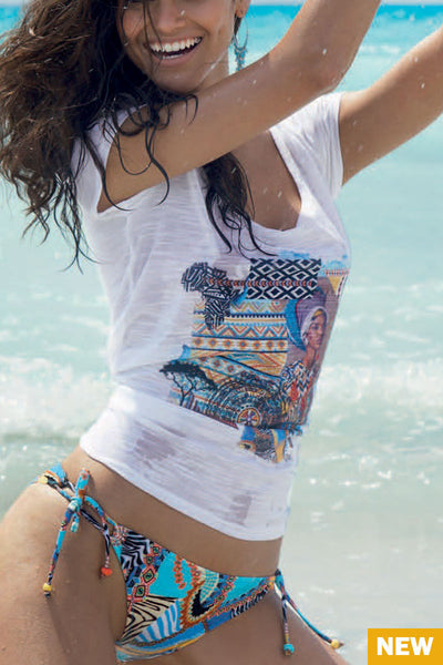 Antigel La Bomba Ethnique Bikini and cover up t-shirt