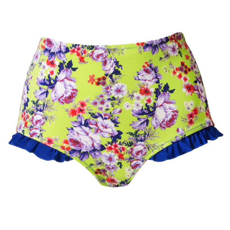 Vintage inspired high waist bikini bottoms