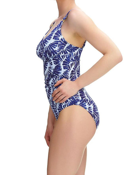 Fantasie Lanai Swimsuit blue white side view