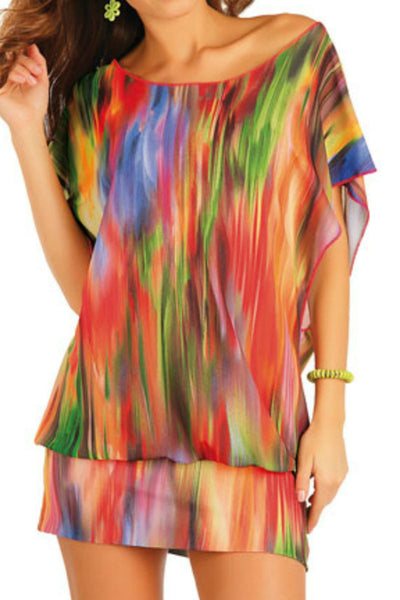 beach tunic multicoloured ladies plus size beachwear