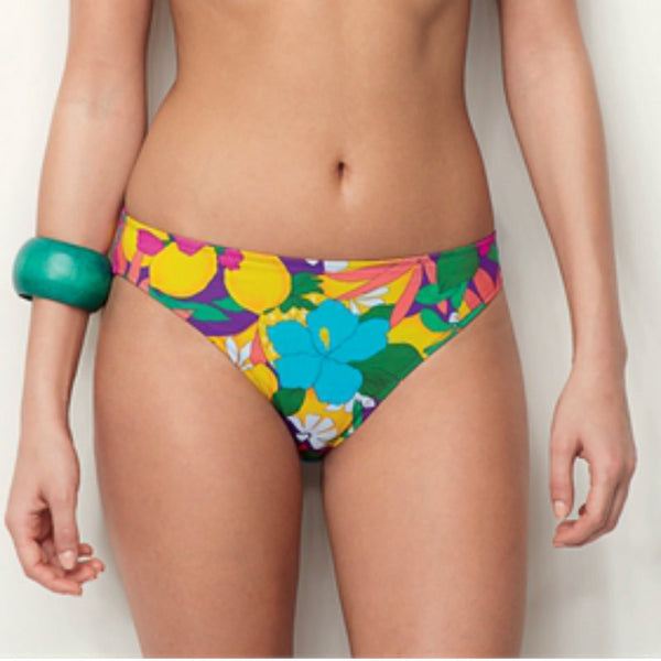 Huit bikini briefs in bright tropical print